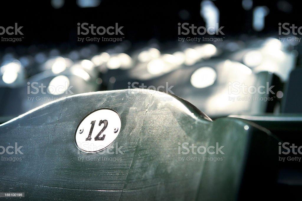Stadium Seating stock photo