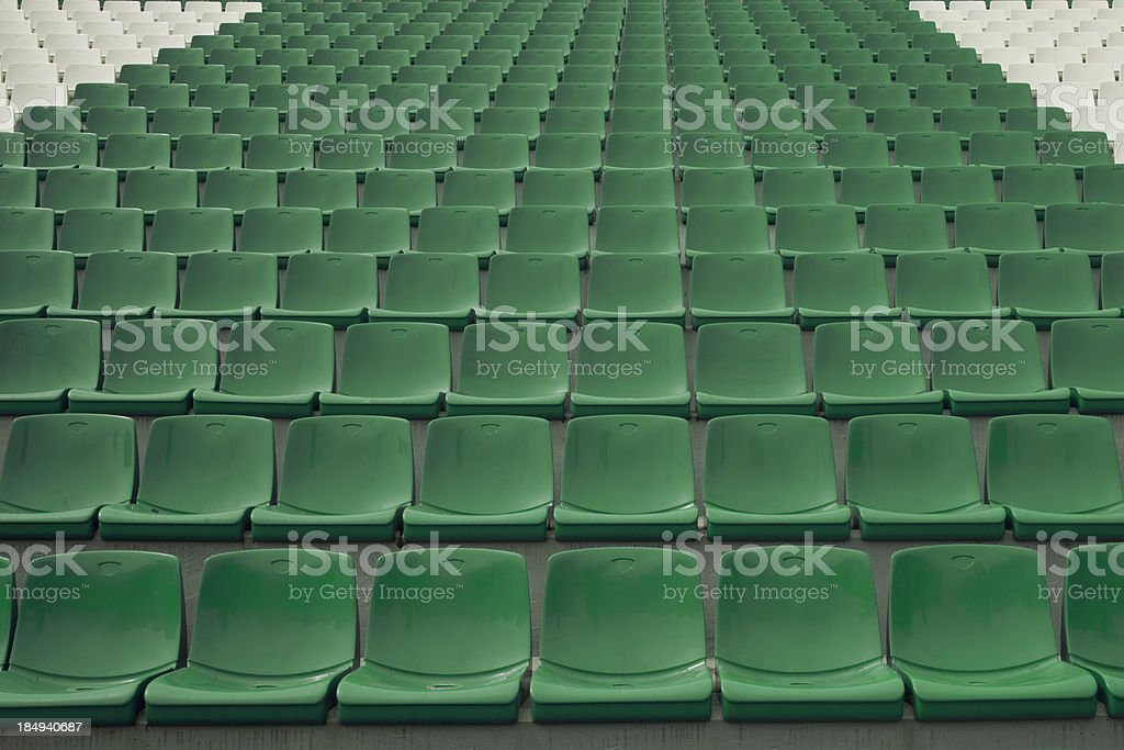 stadium seating royalty-free stock photo