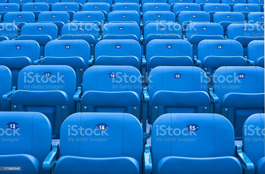 Stadium seats. stock photo