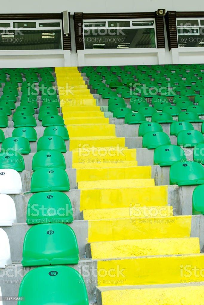 Stadium seats royalty-free stock photo