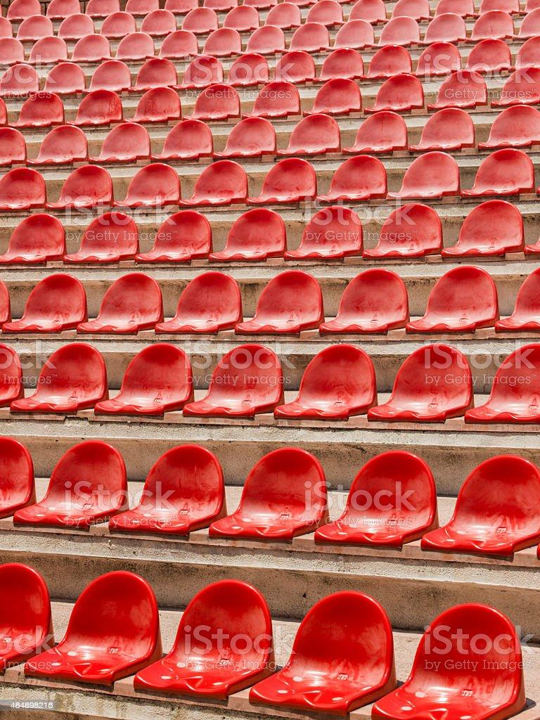 Stadium seats stock photo