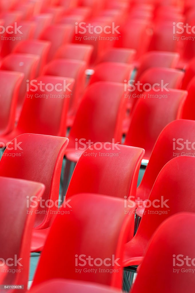 Stadium seats stock photo