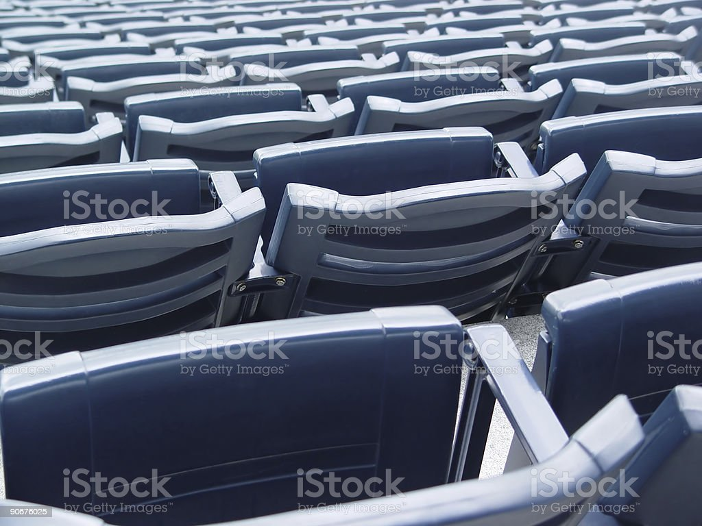Stadium Seats royalty-free stock photo