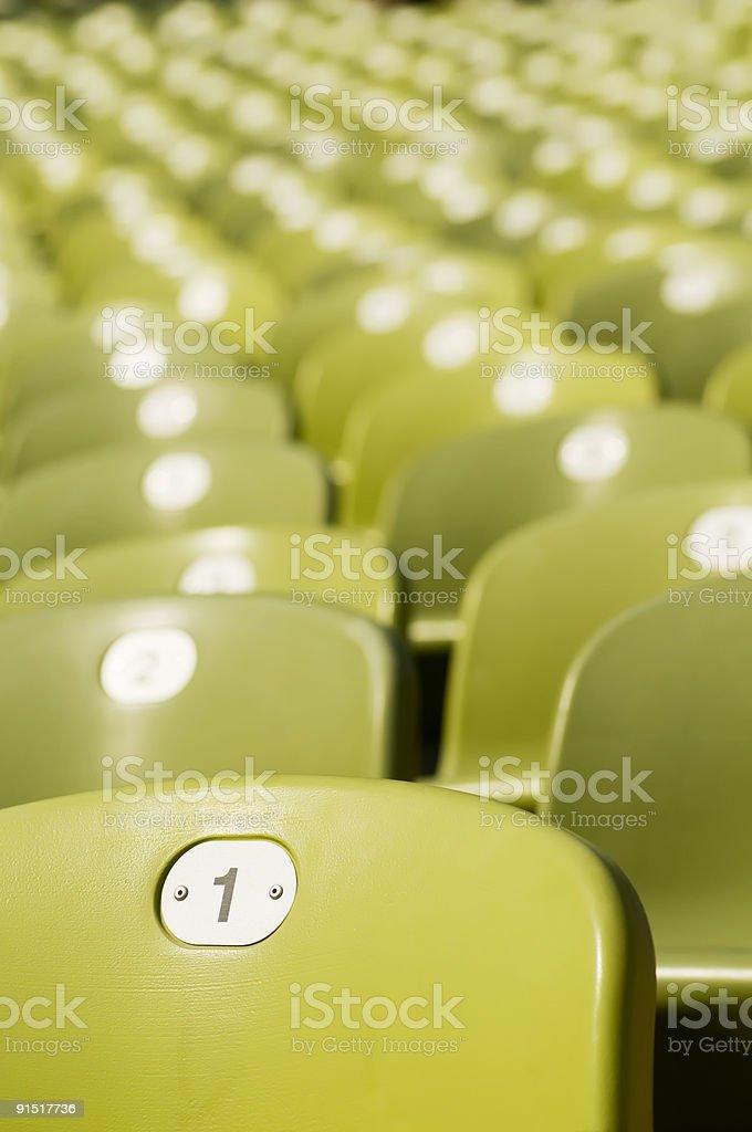 Stadium seats (Nr. 1) royalty-free stock photo