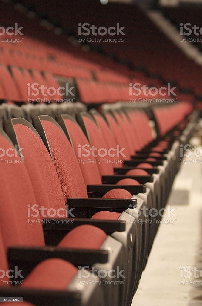 stadium seats portrait royalty-free stock photo