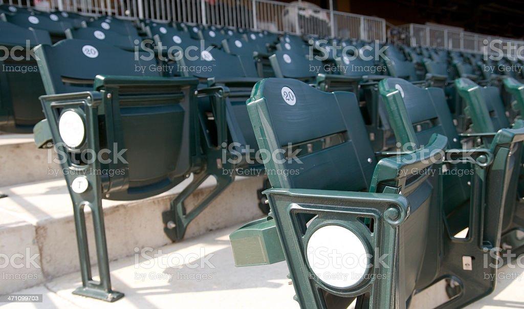 Stadium Seats Sides royalty-free stock photo