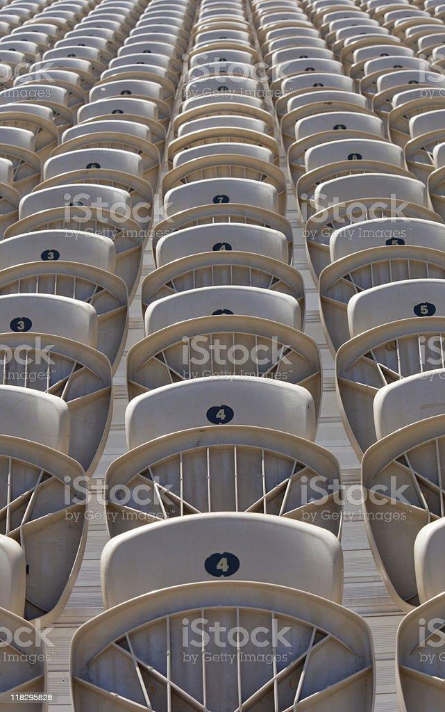 Stadium seats - vertical stock photo