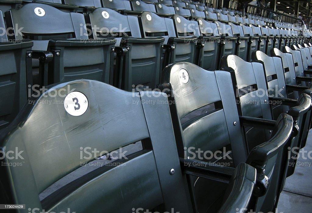 Stadium section and row stock photo