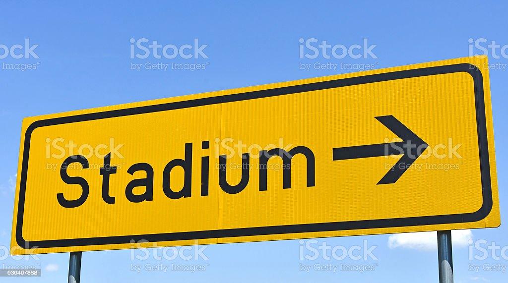 Stadium sign on the street stock photo