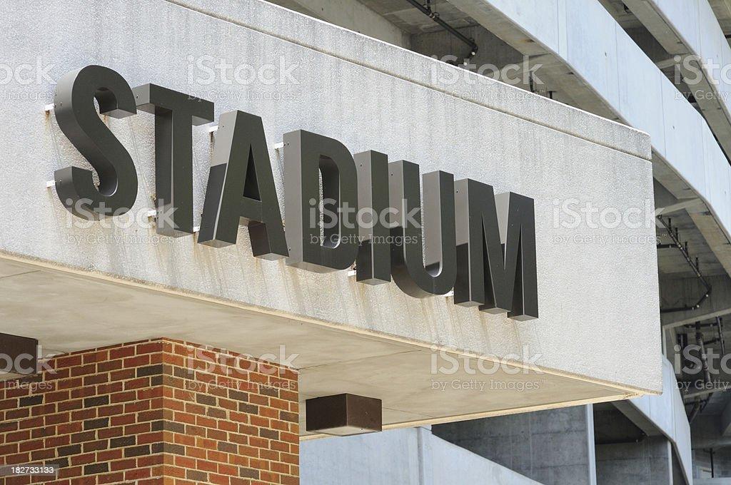 Stadium sign royalty-free stock photo