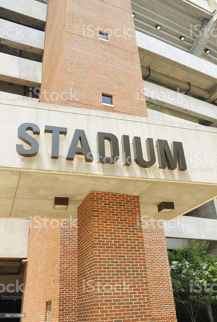Stadium sign royalty-free stock photo