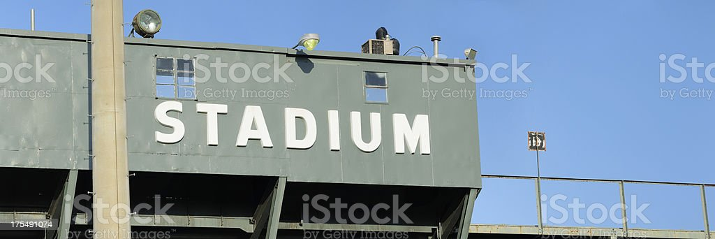 Stadium sign with copy space stock photo