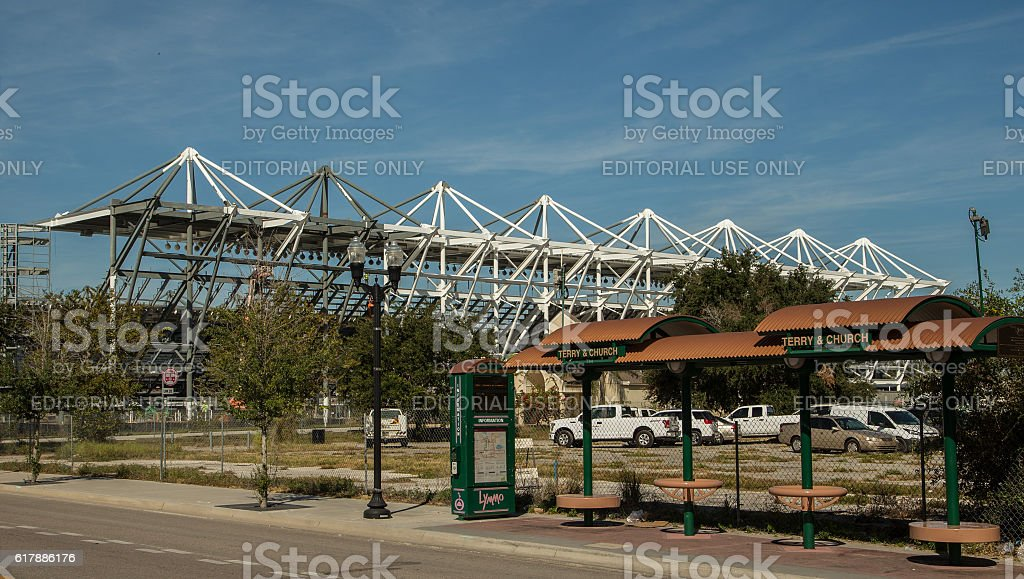 Stadium site stock photo
