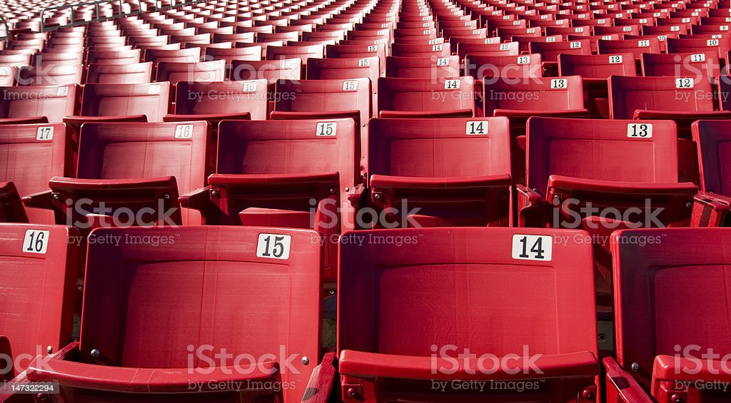 Stadium Sports Seats royalty-free stock photo
