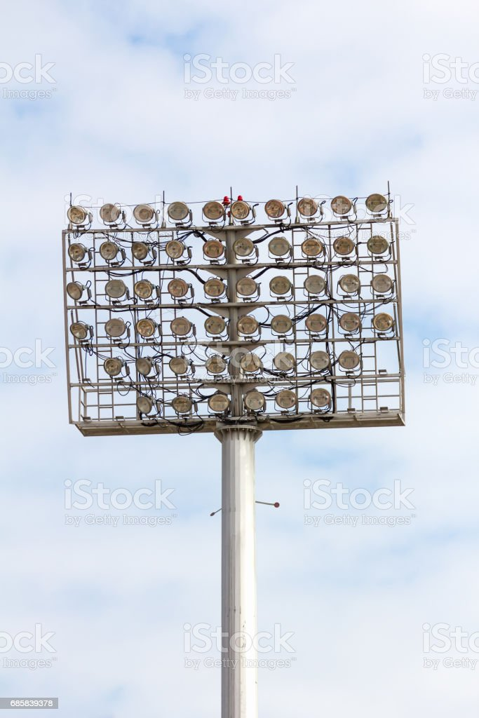 Stadium Spot-light tower stock photo