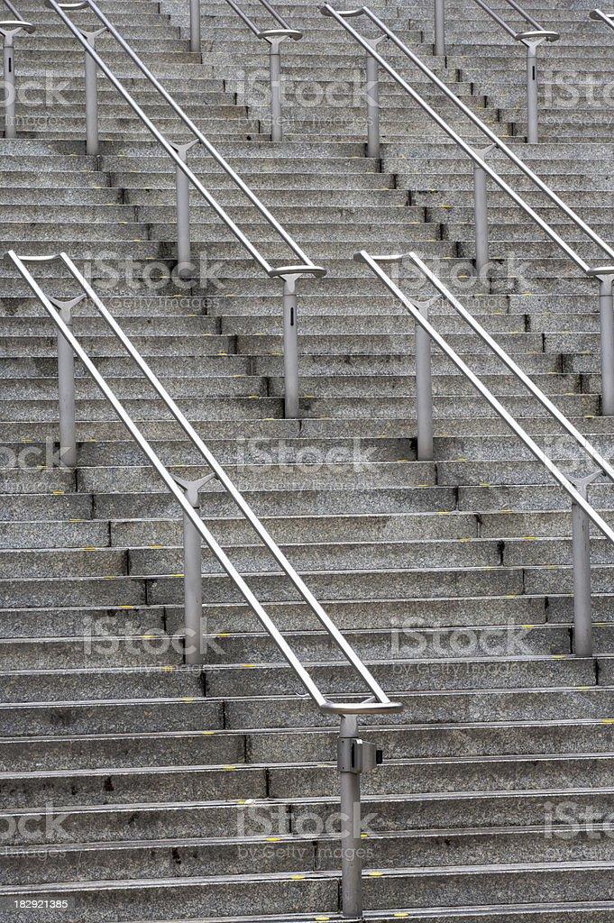 stadium stairway royalty-free stock photo