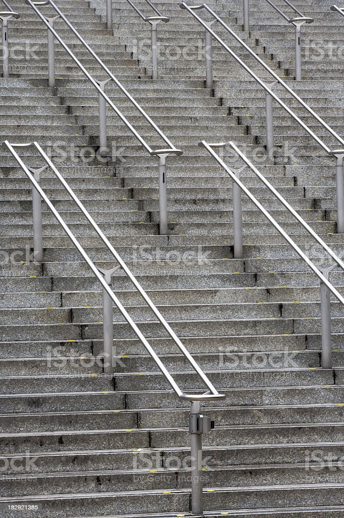 stadium stairway stock photo