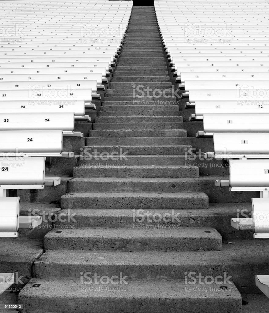Stadium Steps royalty-free stock photo