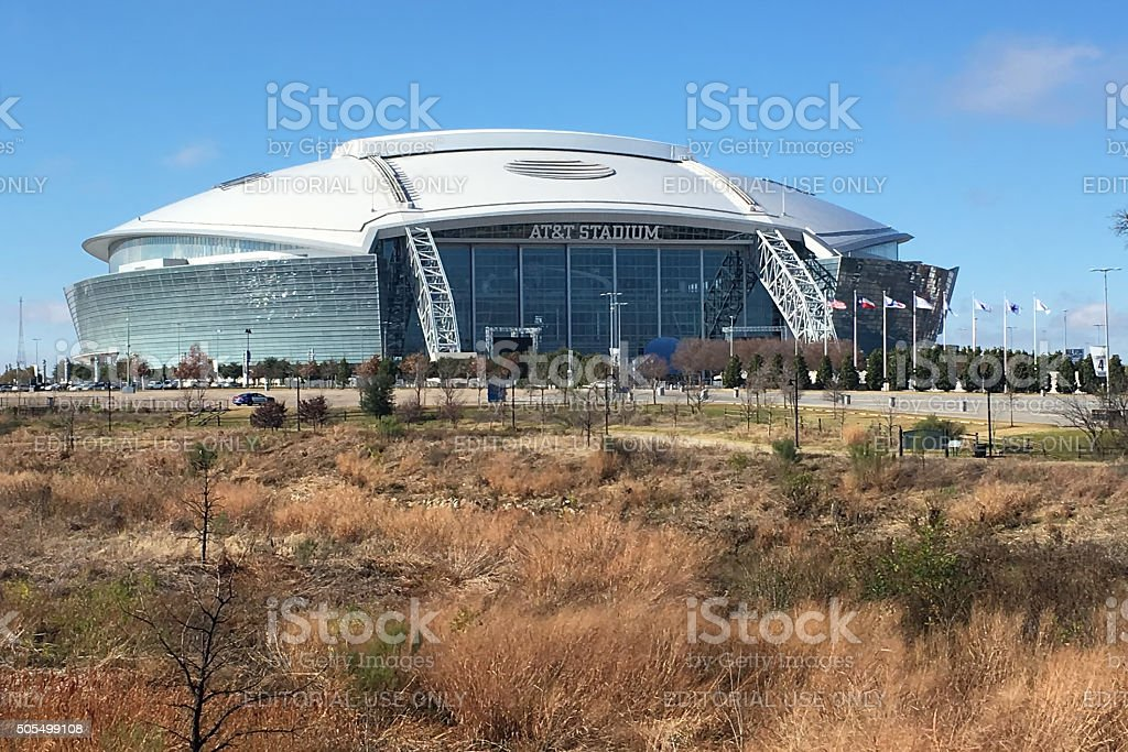 AT&T Stadium, the home to the Dallas Cowboys stock photo