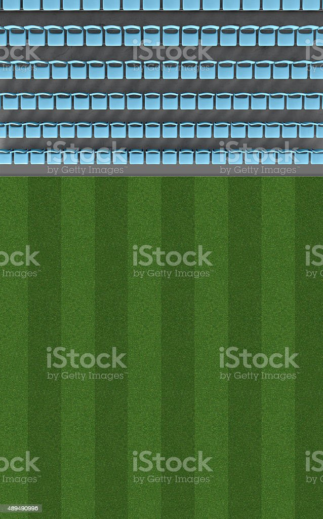 Stadium Top View Section stock photo