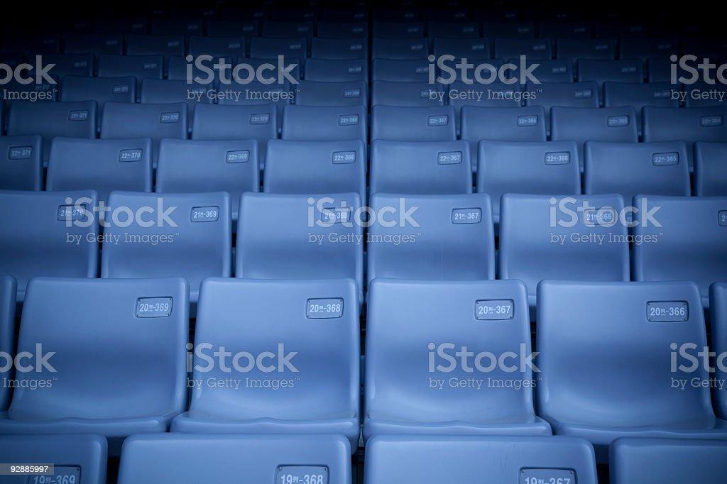stadium tribune seats royalty-free stock photo