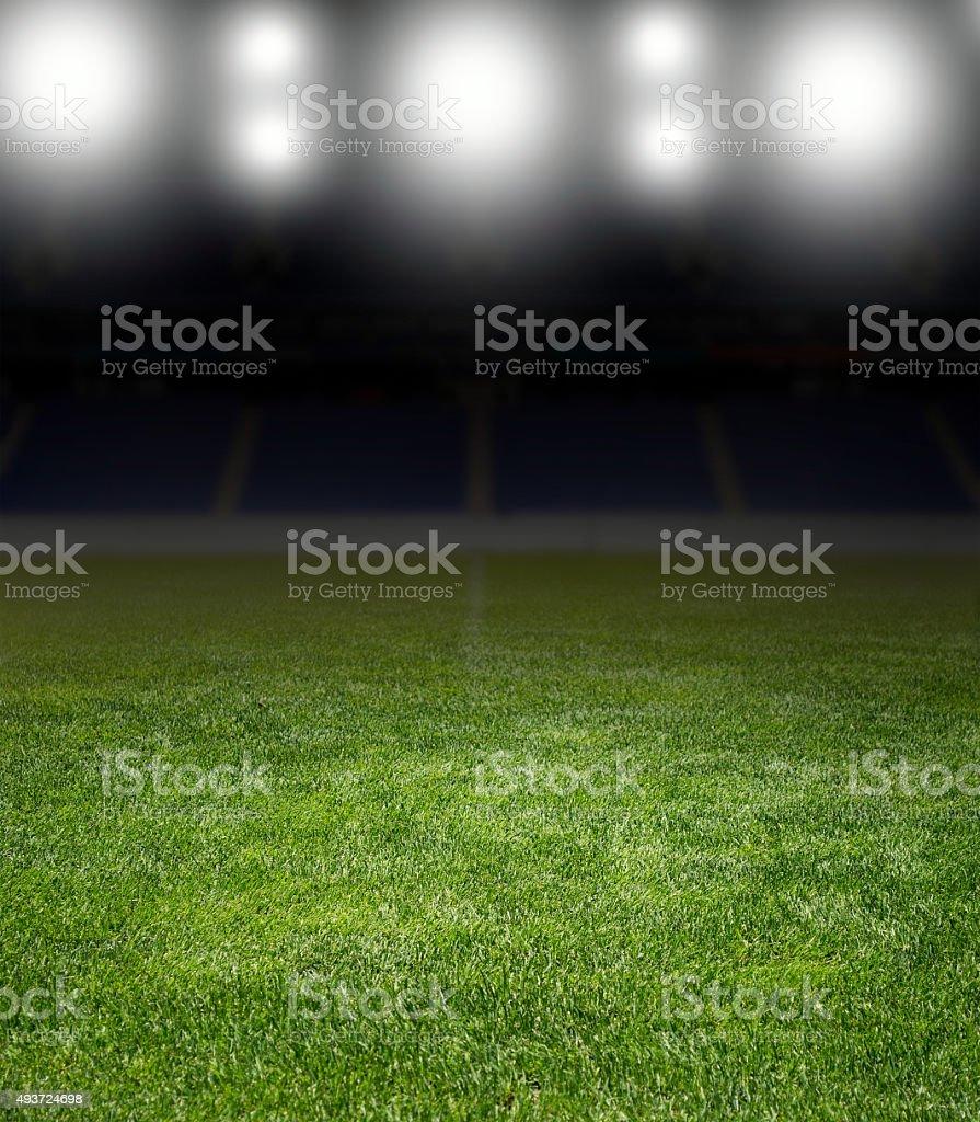 stadium under the bright focuses stock photo