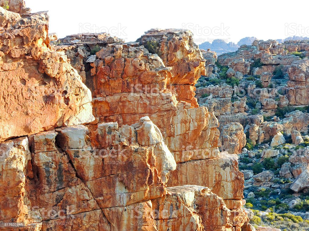 Stadsaal caves in Cederberg nature reserve, South Africa stock photo