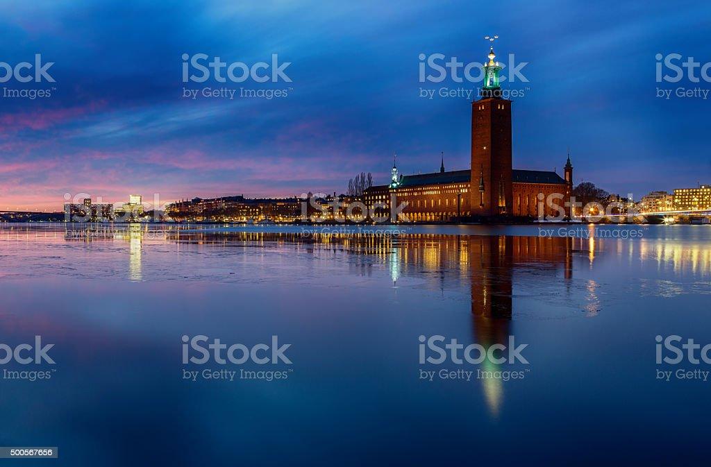 Stadshuset, Stockholm City-hall. stock photo