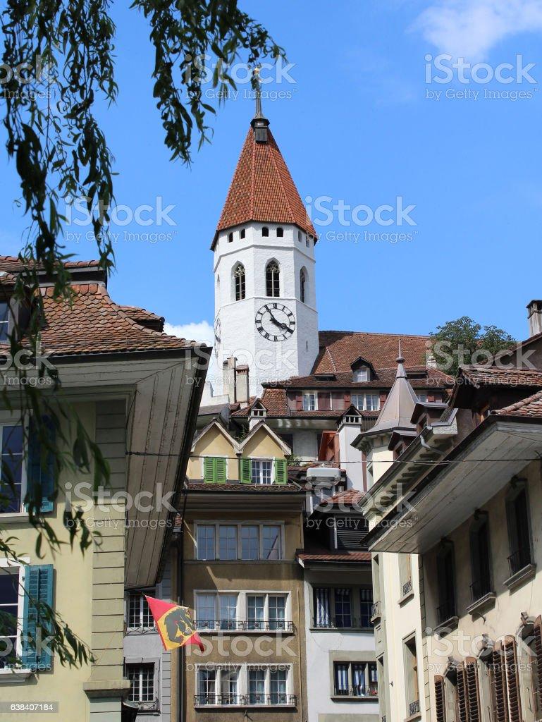Stadt Kirshce, Thun stock photo