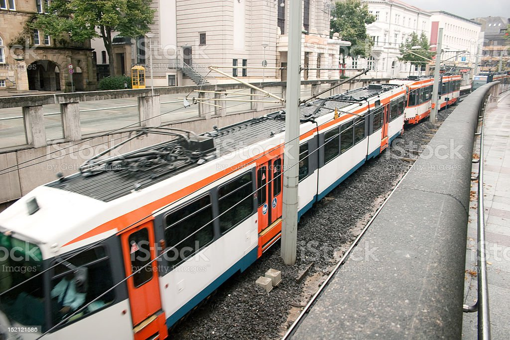 Stadtbahn (Tramway) in Bielefeld royalty-free stock photo