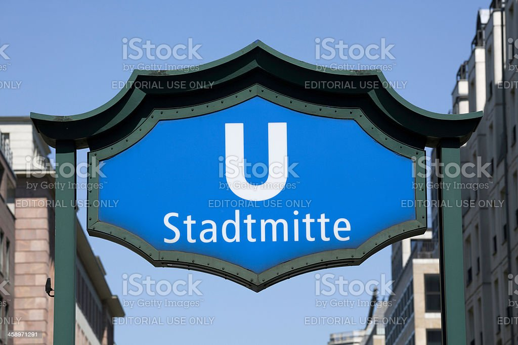 Stadtmitte U-Bahn station royalty-free stock photo