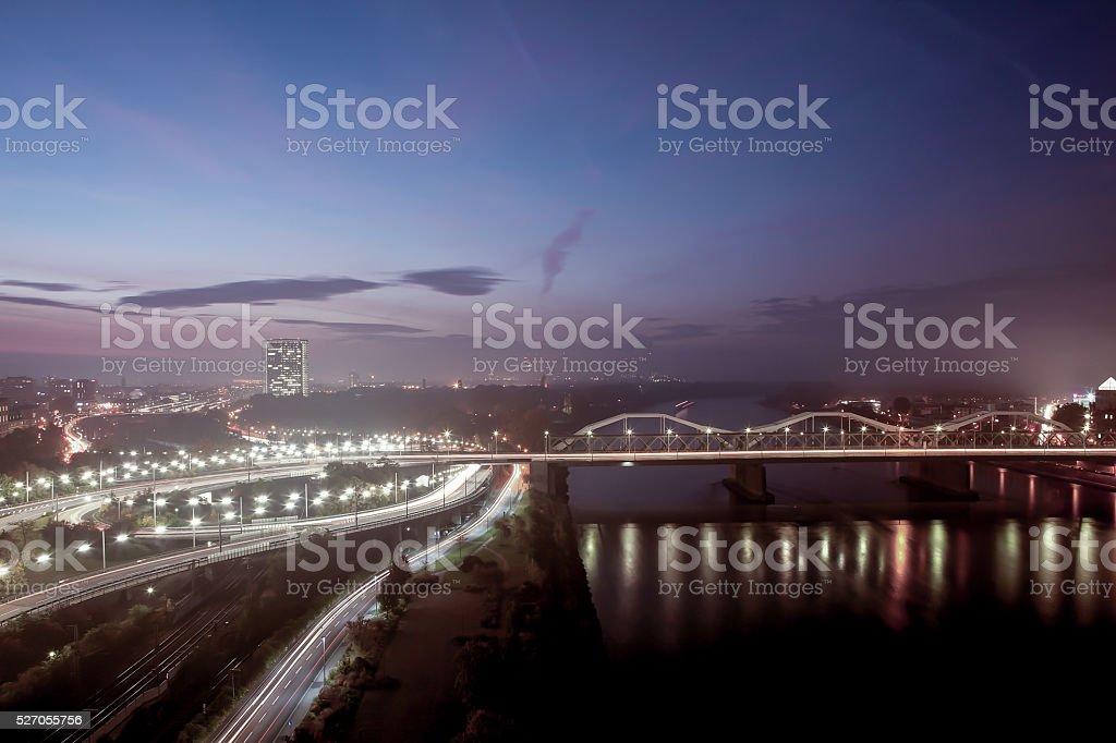 Stadtpanorama stock photo