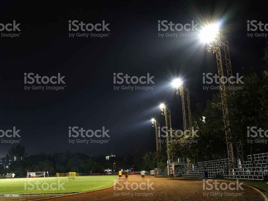 Staduim at night stock photo