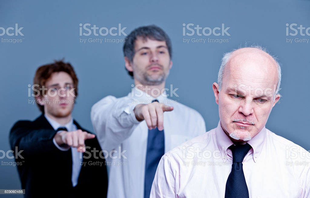 staff downsizing means cutting jobs stock photo