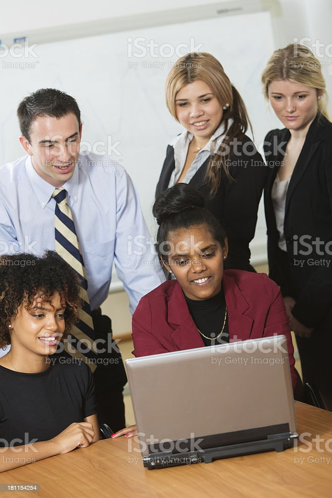 Staff Group royalty-free stock photo