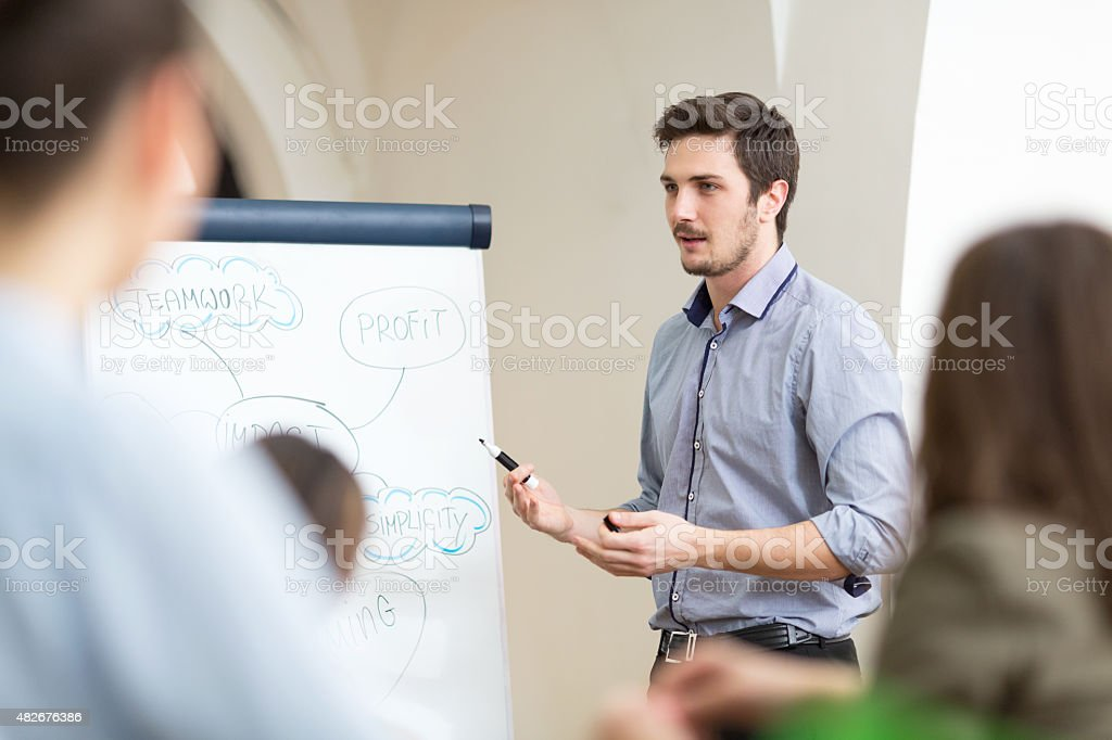 Staff meeting stock photo