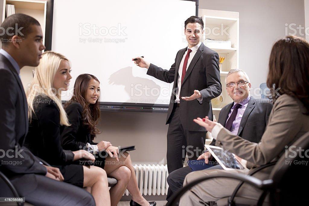 staff presentation stock photo
