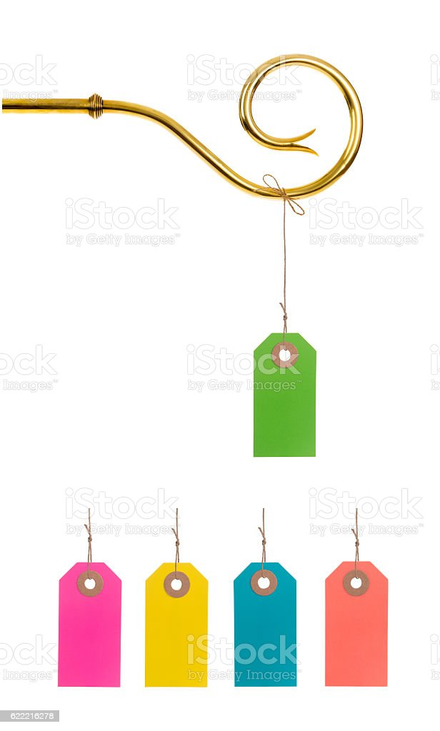 Staff Sinterklaas with Tag or Label stock photo