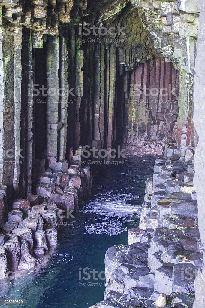 Staffa Island stock photo