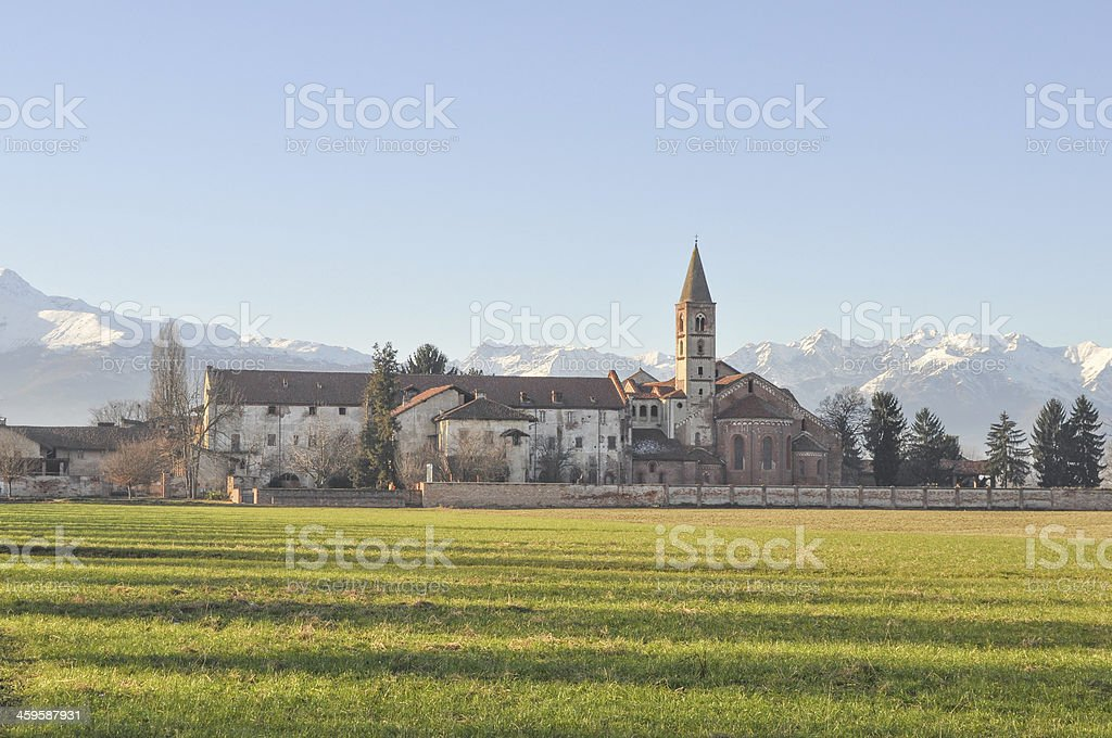 Staffarda Abbey stock photo