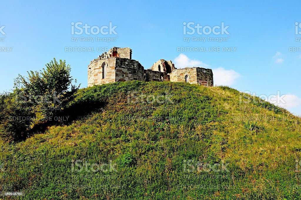 Stafford Castle. stock photo
