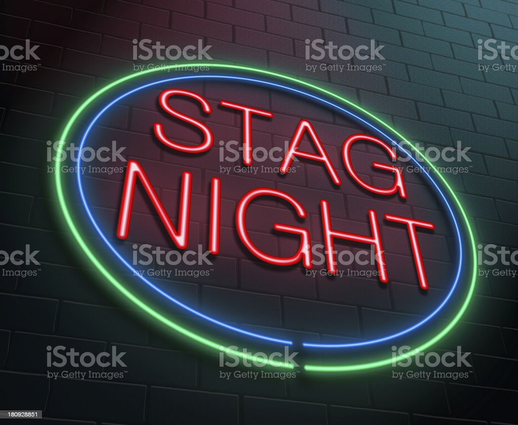 Stag party concept. stock photo