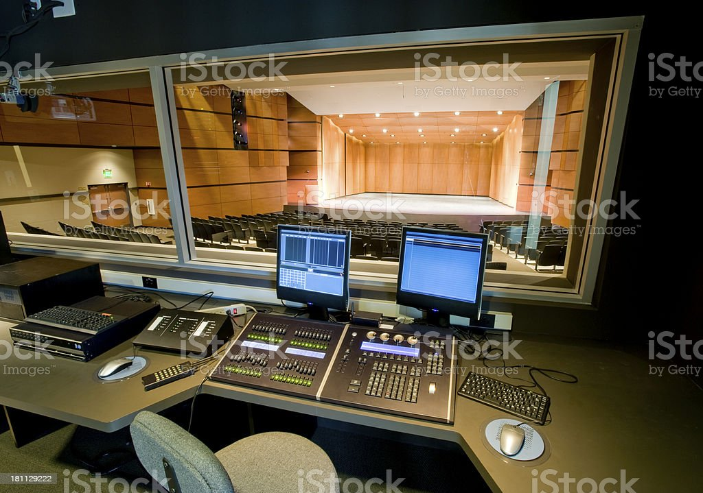 Stage and Control Room royalty-free stock photo
