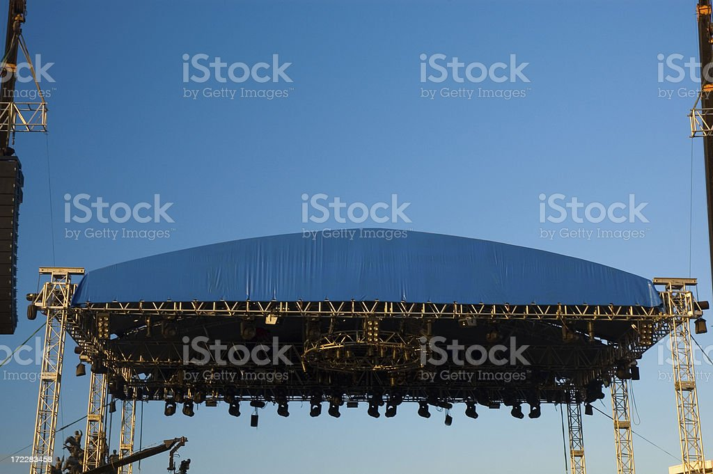 stage and sky royalty-free stock photo