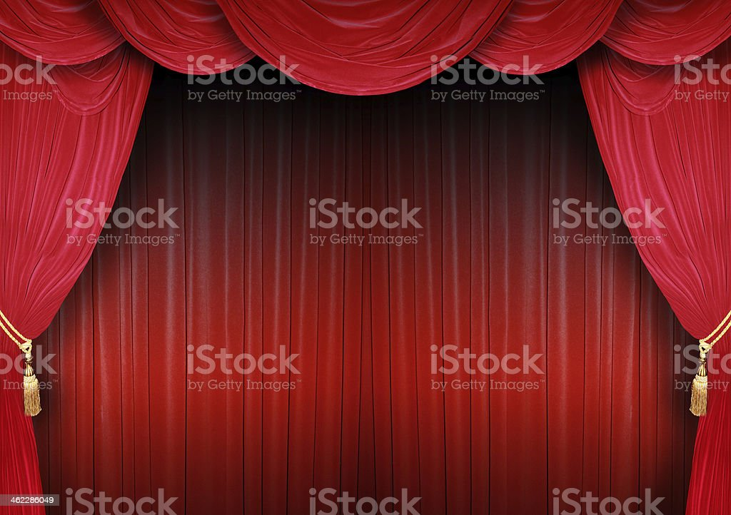 Stage backdrop of a theater stock photo