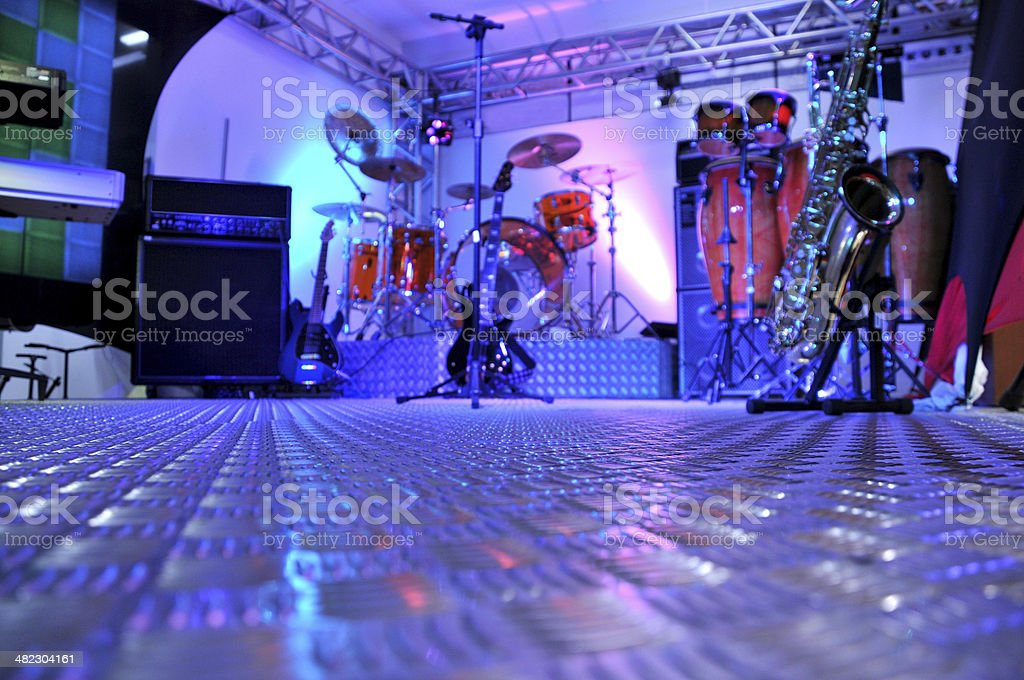 stage blue royalty-free stock photo