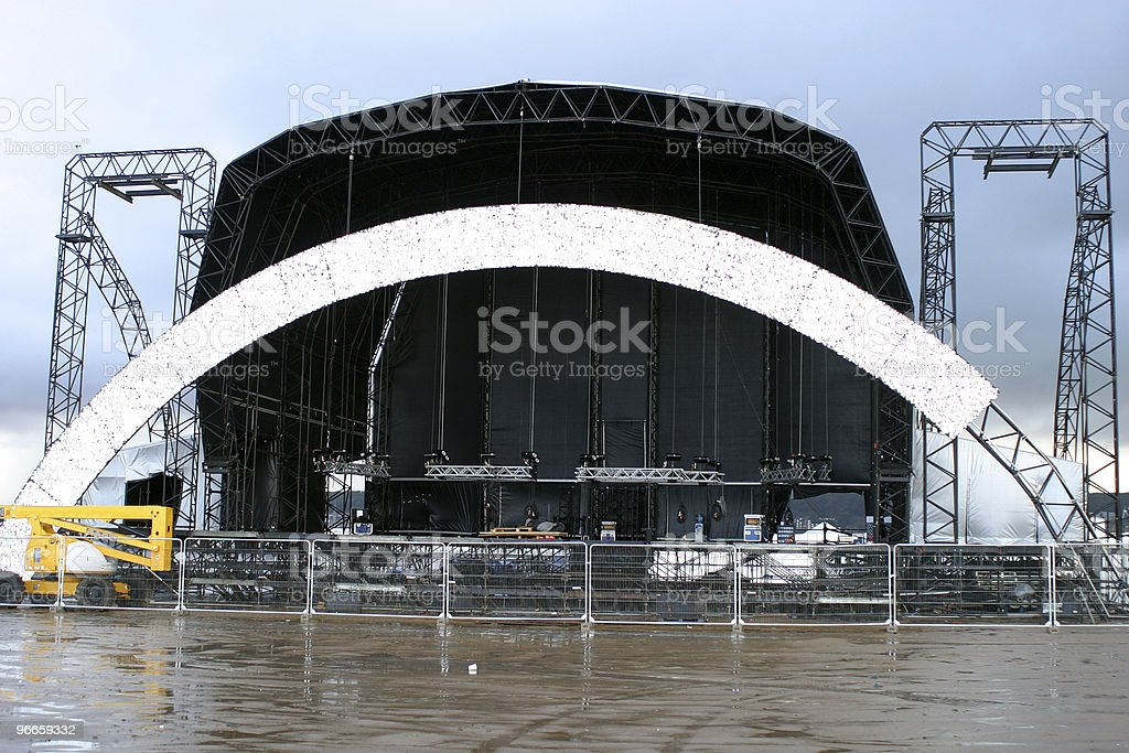 Stage building stock photo