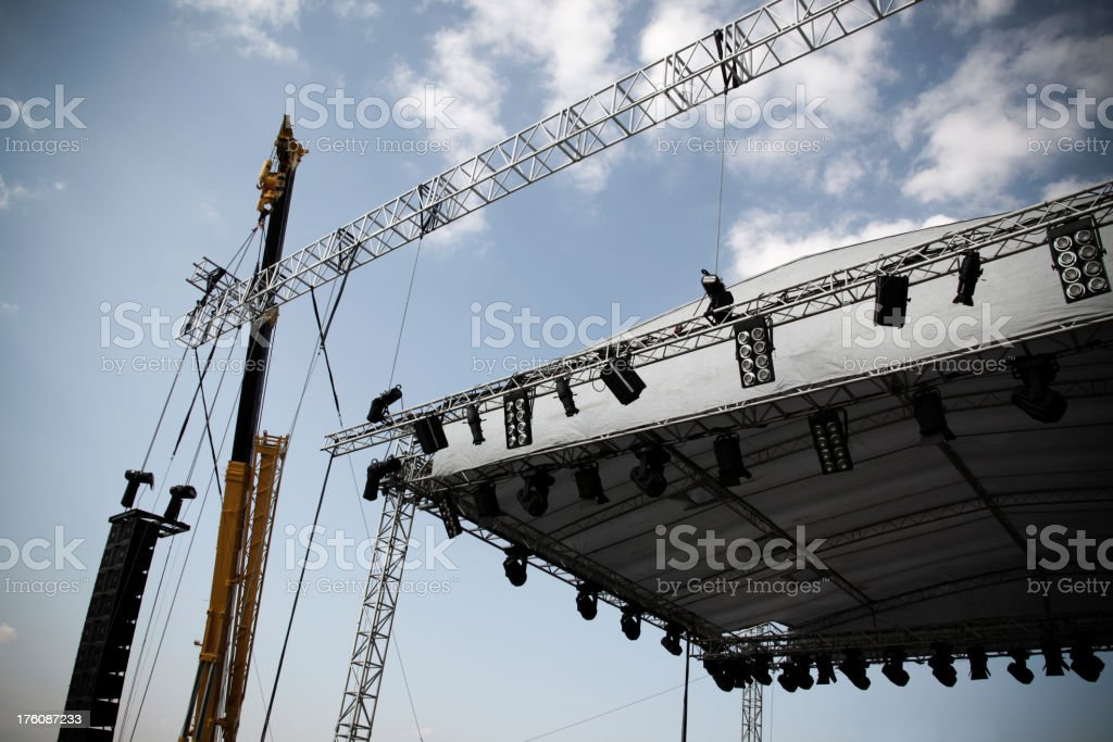 Stage Construction royalty-free stock photo