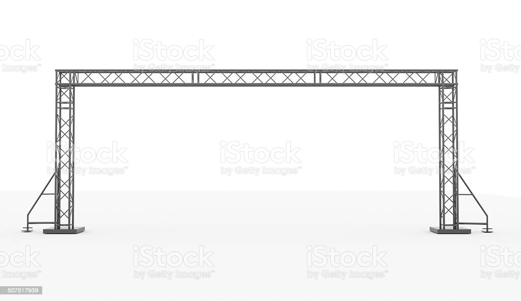 Stage construction rendered isolated stock photo