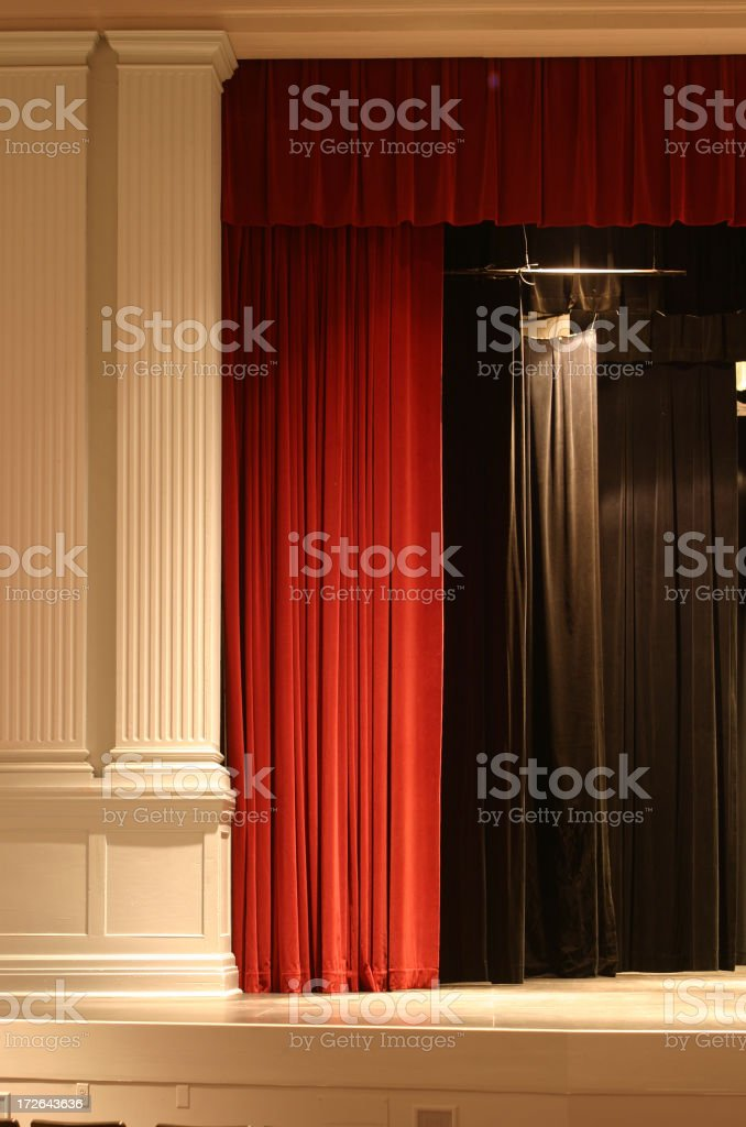 Stage Curtain 1 royalty-free stock photo